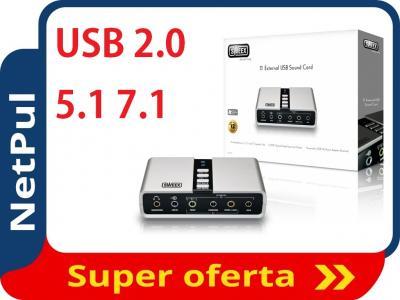 Sweex SC016 Zewnętrzna karta dźwiękowa 5.1 7.1 USB