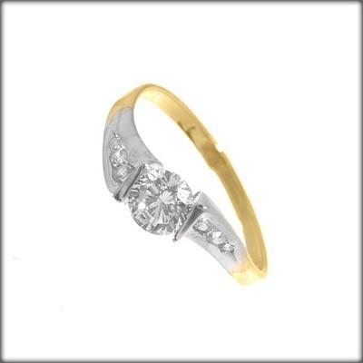 Złoty Pierścionek Zaręczynowy Piękny E Jubiler 4817638224