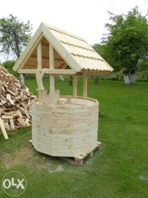 studnia drewniana ogrodowa