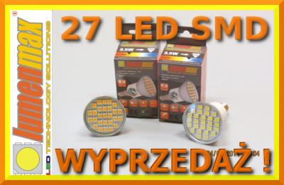 żarówka LED SMD 27 GU10 E14 E27 LUMENMAX WYPRZEDAŻ