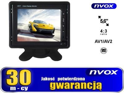 NVOX Monitor 5,6'' AV1 AV2 12V GW.30m. FV