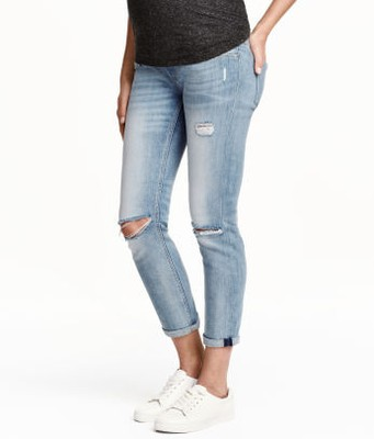 f5aa3d4b49ebe H&M Mama Skinny Ankle Jeans - ciążowe r. 34 - 6755646761 - oficjalne ...