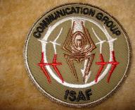 Naszywka Communication Group ISAF
