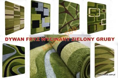 Dywan Multus Zielony Wycinany Gruby 220x160 Hit 5682900261