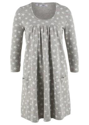 Sukienka shirtowa z rę szary 52/54 6XL/7XL 910095