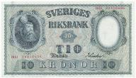 3948. Szwecja 10 kronor 1951 st.2+