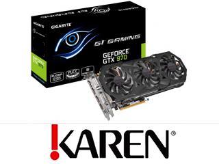 GIGABYTE GeForce GTX 970 4GB GAMING+Batman+Wiedź3