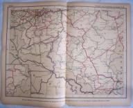 BELGIA, LUKSEMBURG. Mapa kolejowa.