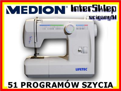 NIEMIECKA MASZYNA DO SZYCIA MEDION 53 PROGRAMY !!!