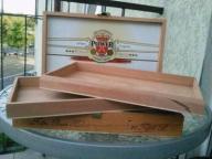 Duże drewniane podwójne pudełko po cygarach