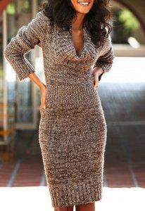 560f06a337 Wełniana sukienka z golfem firmy Victoria s Secret - 6555167987 ...