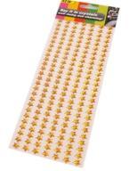 (N115) Gwiazdki samoprzylepne złote -karta 182 szt