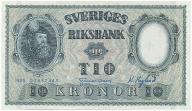 3952. Szwecja 10 kronor 1955 st.1-