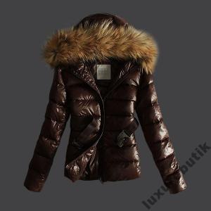 Moncler Fur brązowe