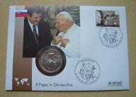 Papież Jan Paweł II Słowacja koperta