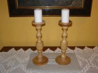 świeczniki z drewna