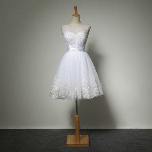 7c49f2a330 sukienka ślubna ślub cywilny krótka 34 36 38 40 42 - 6041015398 ...