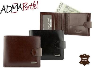 Duży portfel męski z kolekcji Carlo Moretti, na 4 dowody