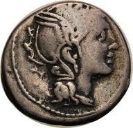 Rzym - Republika AR-denar 111/110 p.n.e. Rzym st.3