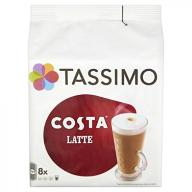 TASSIMO Costa Latte coffee 16 discs, 8 servings (P