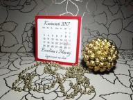 Zaproszenia ślubne kalendarz na Ślub Model Z-16