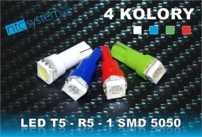 ŻARÓWKA LED T5 R5 SMD 5050 3 chip ZEGARY LICZNIK