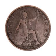 1/2 pensa 1929 Wielka Brytania Jerzy V st.III