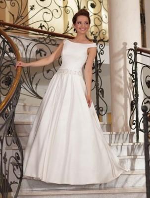 Skromna Suknia ślubna Lisa Ferrera R38 183cm Komis 6840158782