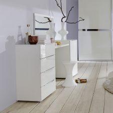 Toaletka Biała Wysoki Połysk Xxl Lustro ścienne 5757176488