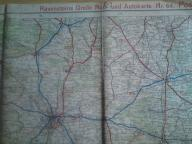 MAPA POLSKI OBSZAR POZNAŃ - ŁÓDŹ 1940 RAVENSTEINS