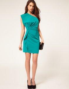 d3c1235993 ASOS sukienka na jedno ramię zieleń 40 - 6165913154 - oficjalne ...