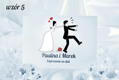 Zaproszenia ślubne śmieszne 50 Szt Za 1 Zł 4784478996