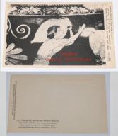 Stara pocztówka, Muzeum Royaux, fragm. rys. DZBAN