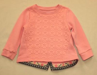 Bluza F&F różowa tłoczone kwiaty jesień r 86