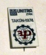 ZRK Unitra Takon-1974 - stara wpinka .
