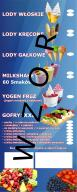 Reklama menu Lodów gofry świderki włoskie 2 Metry!