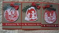 Zestaw kartek świątecznych ręcznie wykonanych
