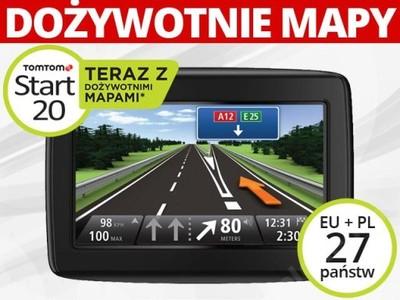 NAWIGACJA GPS TOMTOM START 20M CEE DOŻYWOTNIE MAPY