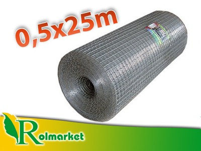Siatka metal ogrodzeniowa 0,5x25m 19mm warzywniak