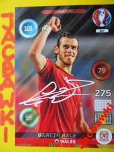 Panini Uefa Euro 2016 Karta Signature Bale 457 6084491555 Oficjalne Archiwum Allegro