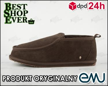 PROMO 40% Skórzane stylowe pantofle EMU r. 46