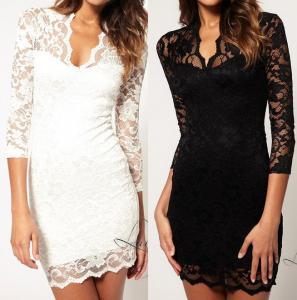 5d6d97bcf5d1d9 KORONKOWA MINI sukienka L/XL 40/42 +stringi - 4190008842 - oficjalne ...