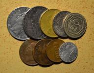 Włochy - 9 monet mało powtórek - BCM