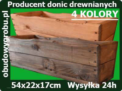 Donice Doniczki Skrzynki Balkonowe 54 Drewniane 6620873127