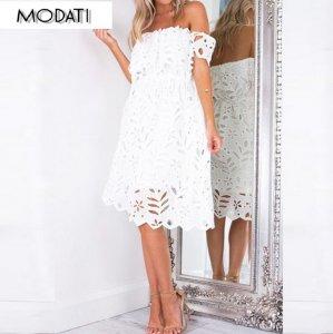 cfe5971158 Ażurowa sukienka hiszpanka gipiura koronka XS - 6367440583 ...