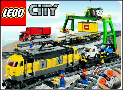 Lego City 7939 Pociąg Towarowy Cargo Train Kurie 3392380341