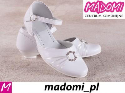 f29f4e56d2 MADOMI buty dziewczęce do komunii komunijne 710 35 - 5801007696 ...