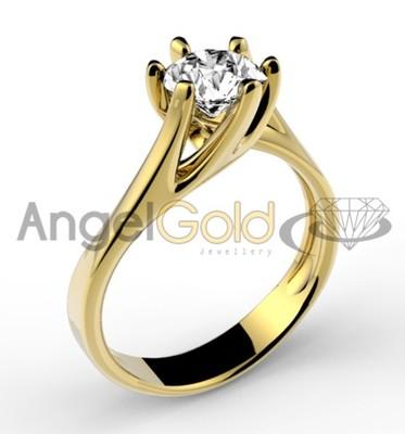 247 Pierścionek Zaręczynowy Złoto 585 Grawer Free 6669690136