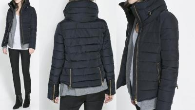 kurtka zimowa damska zara basic