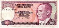 Turcja 100 Lira 1984 P-194b